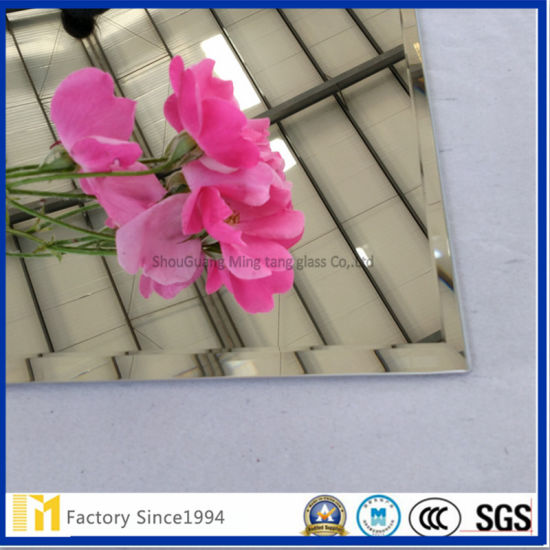 Frameless Beveled Bathroom Mirror with SGS Certification