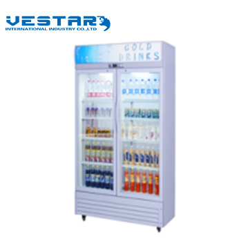 1000L Big Capacity Refrigerator Showcase with Outside Handle pictures & photos