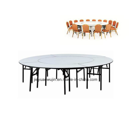 Wholesale PVC Hotel Folded Round Banquet Hall Catering Table (JY T05)