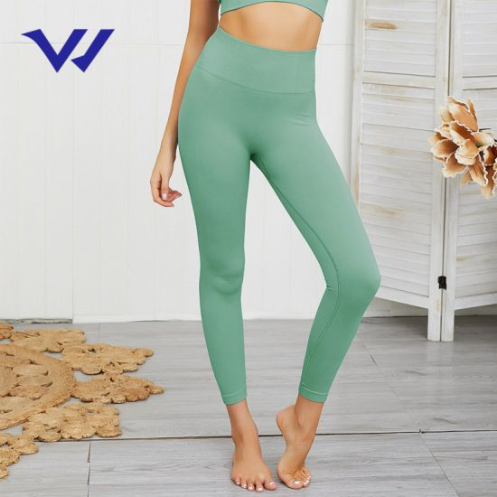 Hot Sale Seamless Knitting HIPS Moisture Wicking Yoga Pants Sports Fitness Pants Sexy HIPS Leggings