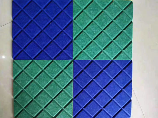 Grooved 100% Polyester Fiber (PET) Acoustic Wall Board for Office Sound Absorbing