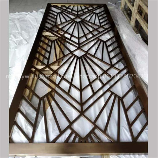 China Stainless Steel Laser Cut Metal Screens For Wall