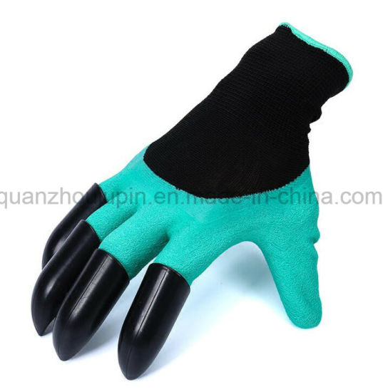 OEM Latex Labor Garden Working Gloves with Dig Claw pictures & photos