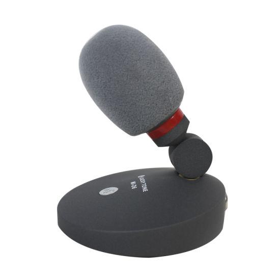 Professional Wired Miniature Desktop High Sensitivity Condenser Boom Microphone 48V Phantom Power