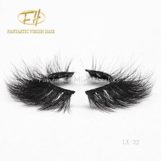 Custom Logo 3D/5D Mink Faux Fur Eyelashes Extension with Natural Black Color