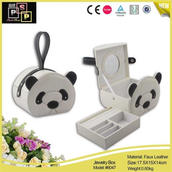 Fashion White Panda Leather Jewelry Package Ring/Bracelet/Bangle Box (8047) pictures & photos