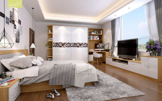 China Closet With Sliding Door For Bedroom Furniture V48WS48 Fascinating Closet In Bedroom Decor Property