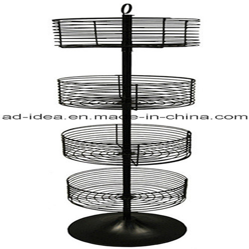 Fashionable Retail Store Round Metal Display/ Display for Ornaments, Cosmetics