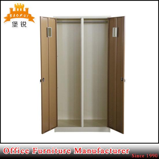 China Office Furniture Steel 2 Door Cloth Storage Cabinet Metal