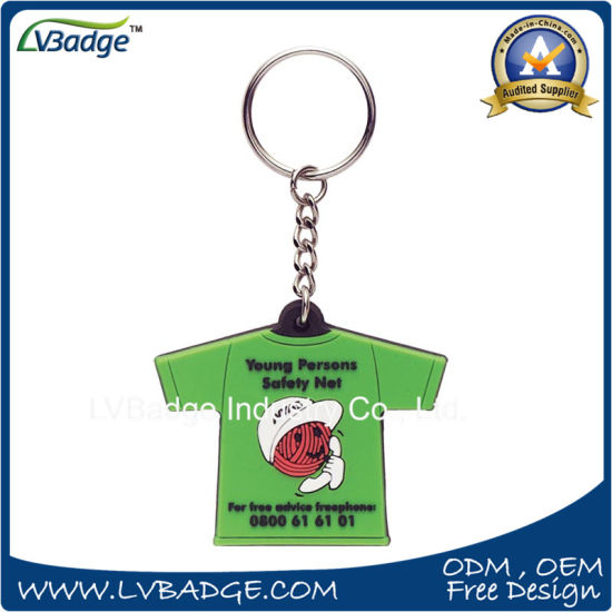The Lowest Price Rubber Key Ring pictures & photos