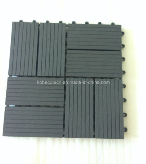 China High Density Garden Design Interlock Floor Tiles Wpc Diy Tiles