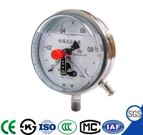 Shock Resistant Electric Contact Pressure Gauge with High Quality