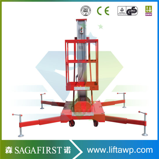 10m Light Weight Aluminum Alloy Aerial Work Platform with Ce pictures & photos
