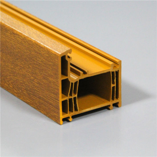 Wooden Film UPVC Lamination Profile for Windows and Doors