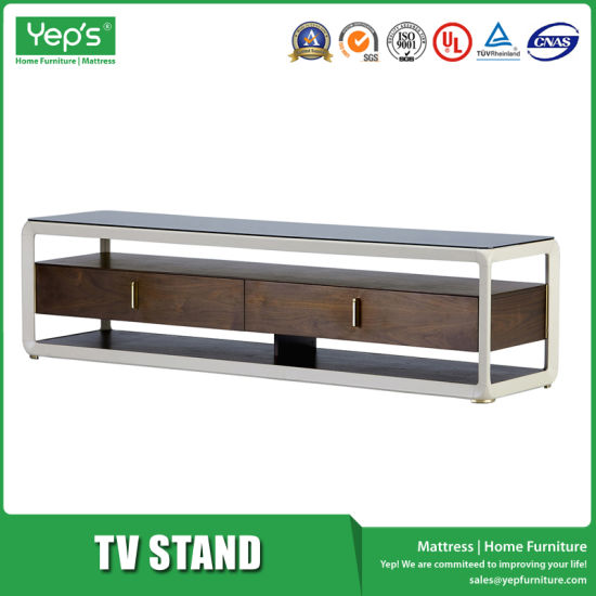 1.8m Tempered Glass Light and Luxurious Style TV Stand