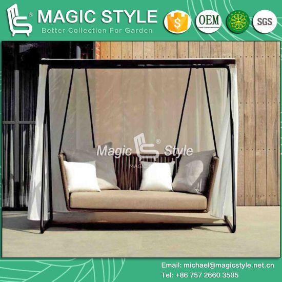 Tape Swing 2 Seater Swing Double Swing Hanging Chair Hammock Outdoor  Furniture Garden Furniture Aluminum Swing (Magic Style)