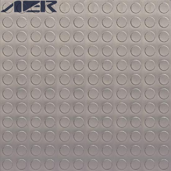 China Pvc Double Coin Glue Down Pvc Vinyl Floor Garage Flooring Tile