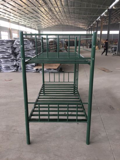 Jas-041 Luoyang Factory Furniture Metal Pipe Double Beds Steel Metal Beds pictures & photos
