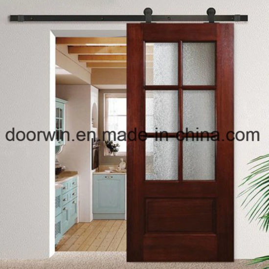 European Style Entry Door Glass Insert Wood Interior Door Made Of Knotty  Alder/Oak Wood
