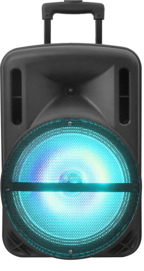 """12"""" Feiyang Temeisheng Rechargeable Battery Speaker with Trolley Wireless Mic NFC FCC F12-1"""