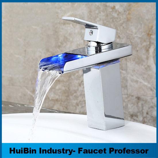 China Fancy Design Chrome LED Light Copper Bathroom Shower Basin ...