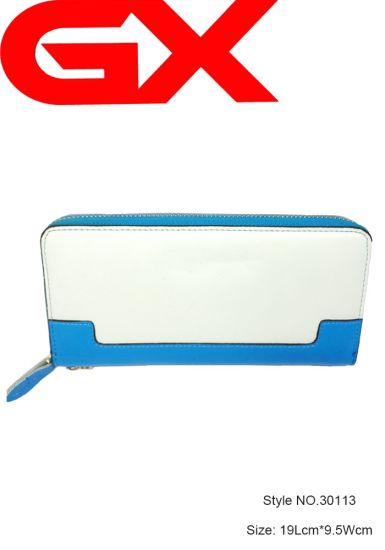 Lady Polyester Canvas Pouch Cute Wallet Plastic Coin Purse with Two Compartments Plus (NO. 30113)