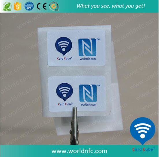 13.56MHz Cheap RFID Ntag213 Passive NFC Paper Sticker pictures & photos