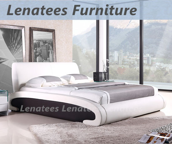 c0be7194ffee China A518 Fancy Design White Leather Queen Bed - China Queen Bed ...