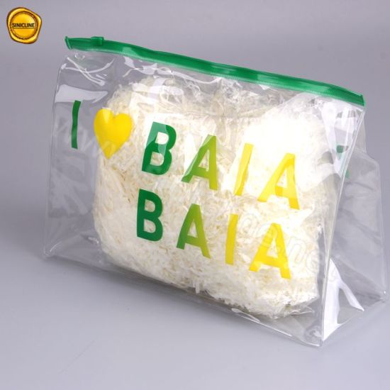 Sinicline Transparent Pvc Custom Ziplock Bag For Sandals