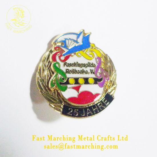 Custom Magnetic Lapel Pin Cap Material Emblems Metal Logo Badge