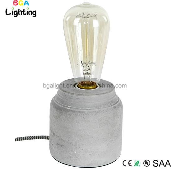 Grey Concrete Desk Lamp Best Reading Light For Bedroom