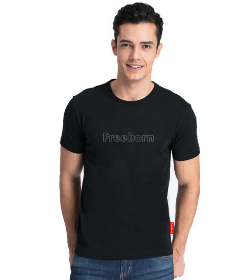 Classic Combed Cotton Men's T-Shirt with Custom Logo