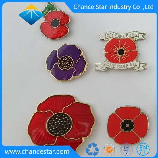 China custom metal poppy flower enamel lapel pin badge china custom metal poppy flower enamel lapel pin badge mightylinksfo