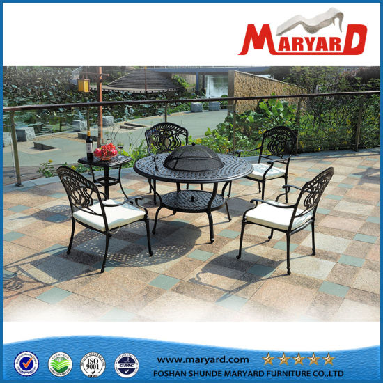 China Cast Aluminum Outdoor Furniture Round Barbecue Table and ...