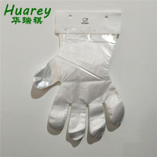 Plastic/Polyethylene/Poly/HDPE/LDPE Disposable PE Gloves