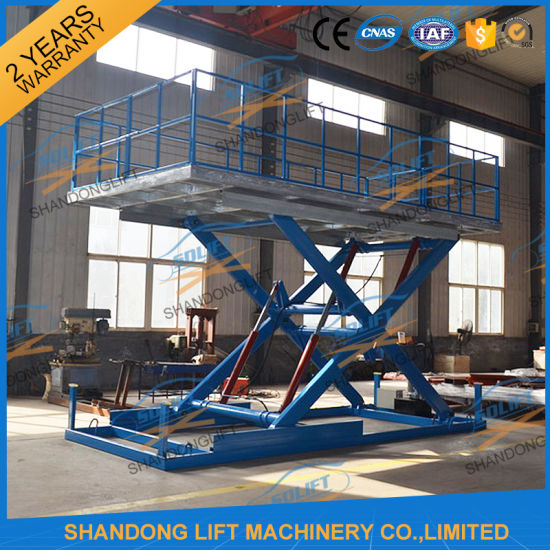3t 3m Hydraulic Scissor Car Lift for Basement with Ce pictures & photos