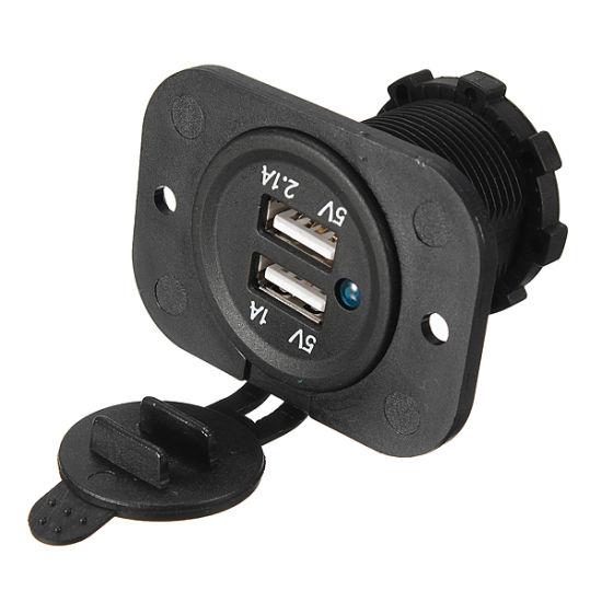 Dual USB Car Cigarette Lighter Socket Splitter Charger Power Adapter Outlet 12V pictures & photos