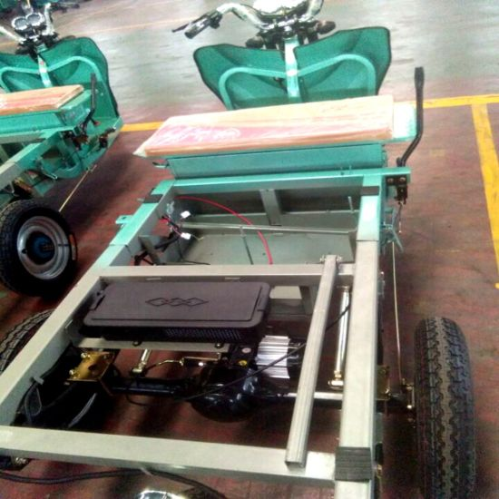 Max Speed 30km/H Drum Brake 3-Wheel Electric Cargo Tricycle pictures & photos