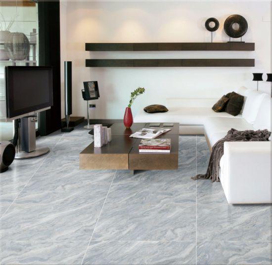 China blue and Beige Marble Effect Porcelain Floor Tile 60X600cm ...