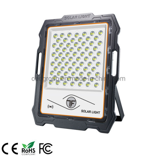 No Wiring No Electricity IP67 Aluminum Solar Panel and Battery Solar LED Flood Light 200W
