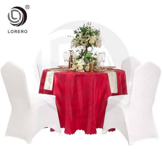 China Wedding Decoration Polyester, Runner On Round Table