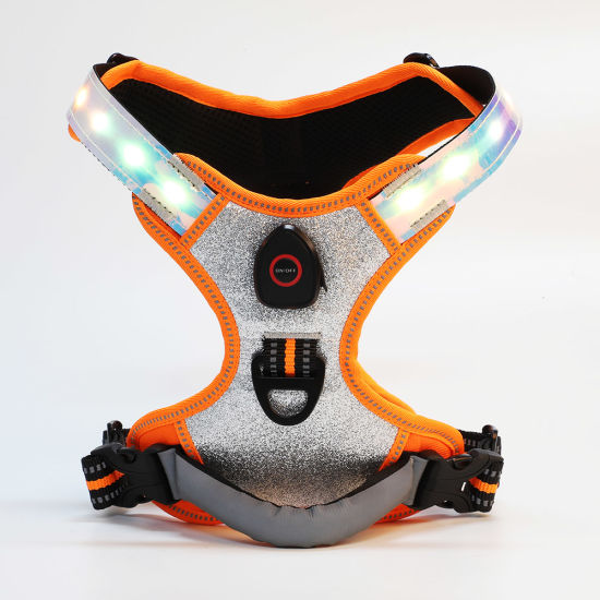 Adjustable with Release Buckle LED Light Dog Harness