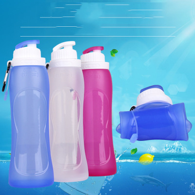 500ml Folding Travel Collapsible Silicone Drinking Bottle pictures & photos