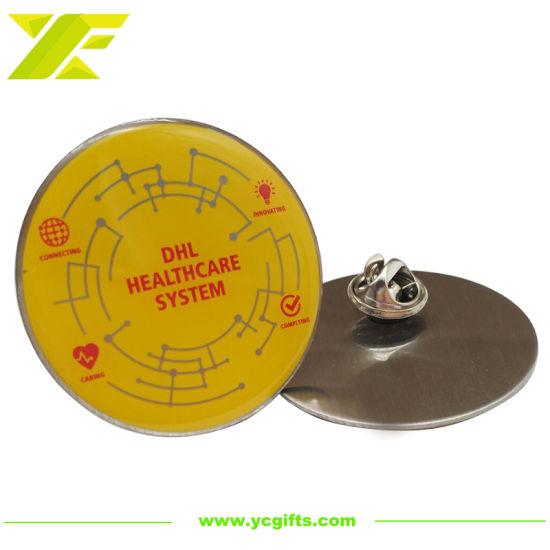Professional Design Logo Custom Offset Printing Epoxy Us Police Badge Metal Crafts Lapel Pins DHL Company Souvenir Emblem for Promotional Items (BG65)