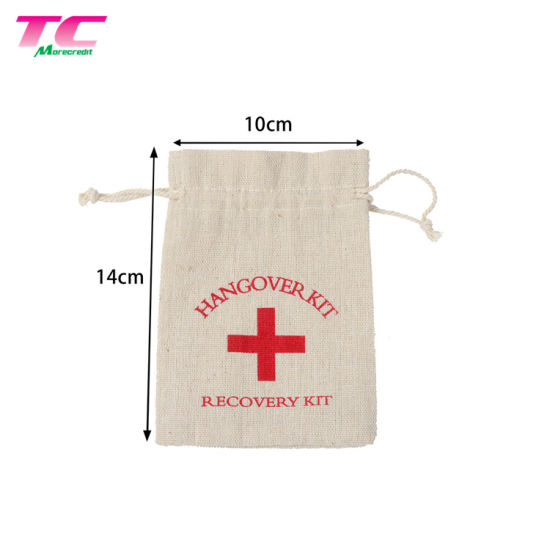 Wholesale Recycled Cotton Dust Bag Custom Printed Calico Drawstring Bag