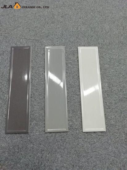 Smoke Grey 4x16inch 10x40cm Gres Tile Skirting Glossy Glazed Bathroom Ceramic
