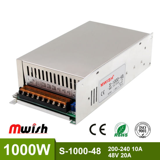 Efficiency DC/AC 1000W 48V Swithing Power Supply pictures & photos