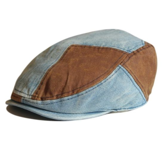 China Wholesale Kid Denim Newsboy Caps with Flat Bill - China IVY ... e10a1b4dc16