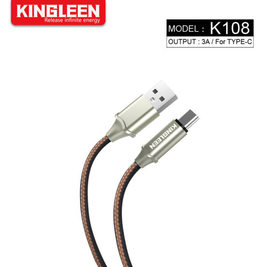 Type C USB Cell Phone Charging 3A Data Nylon Braided Cable