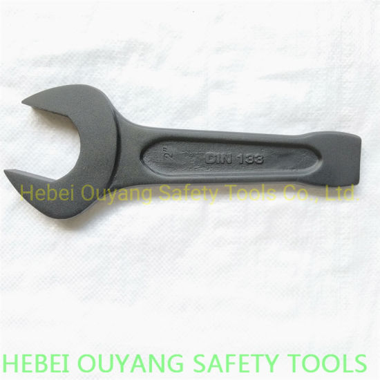 """Open End Striking Spanner Wrench 2"""", DIN 133, Punch Forged"""